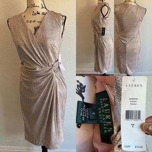 $170! Lauren blush sparkle dress NWT size 6